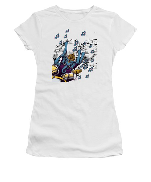 Ganesha Drummer Art Original Artwork Women's T-Shirt