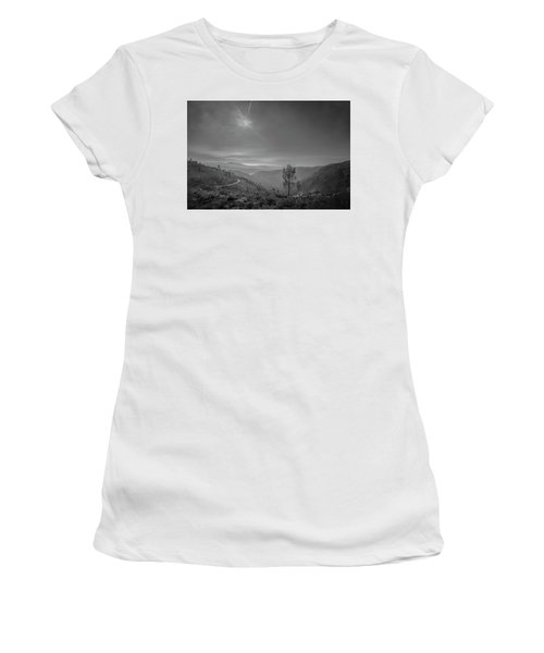 Women's T-Shirt featuring the photograph Geres - One Tree by Bruno Rosa