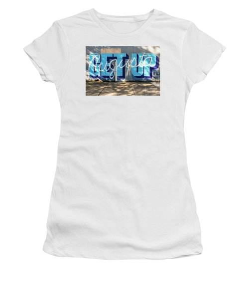Get Up Augusta Ga Mural  Women's T-Shirt