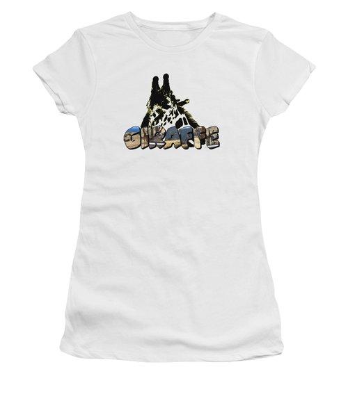 Giraffe Big Letter Women's T-Shirt