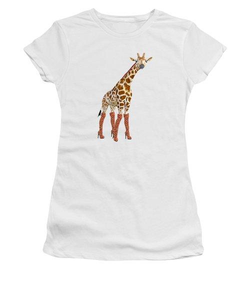 Giraffe Funny Pose Women's T-Shirt