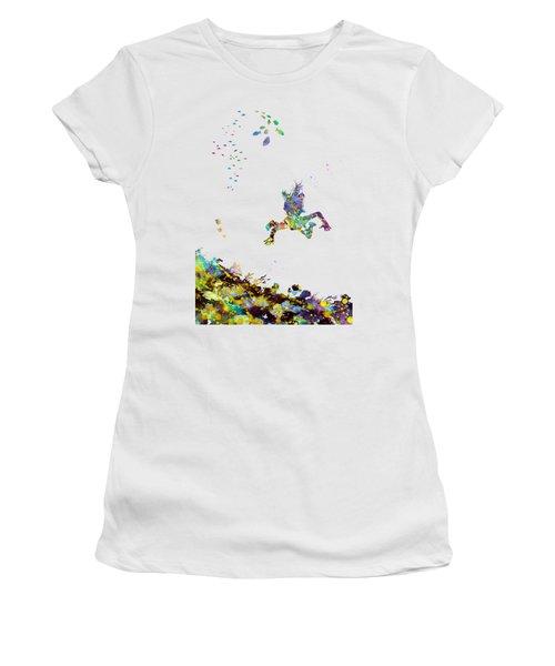 Girl Swimming Women's T-Shirt