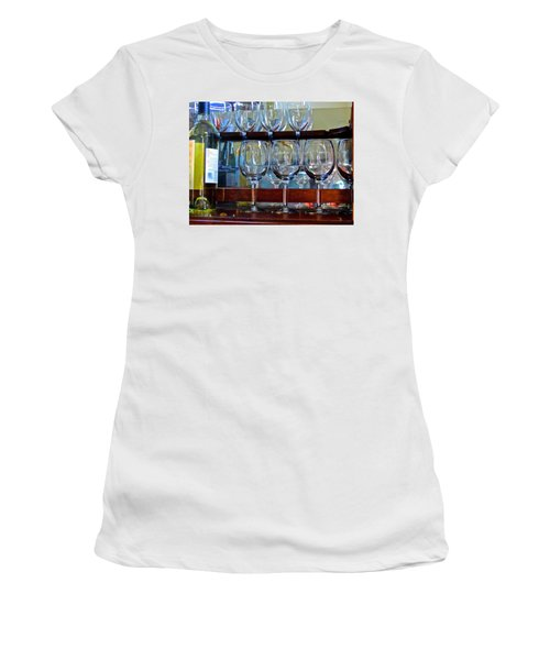 Women's T-Shirt (Athletic Fit) featuring the photograph Glass Act... by Don Moore