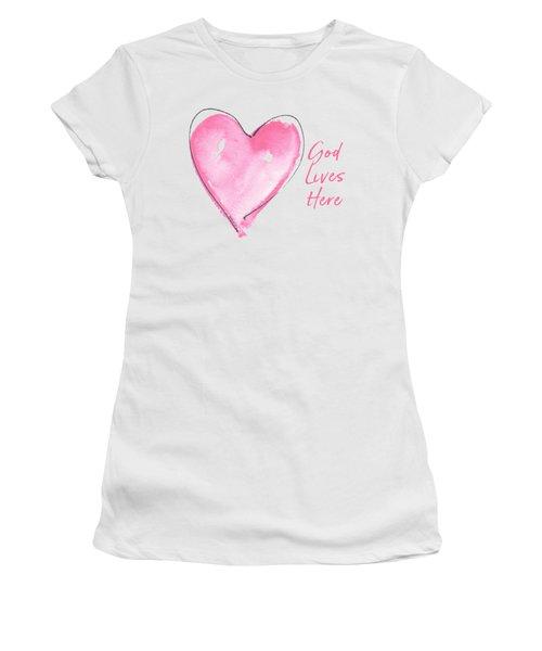 God Lives Here Women's T-Shirt