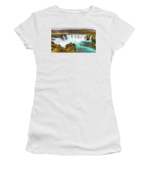 Godafoss Waterfall, Iceland Women's T-Shirt