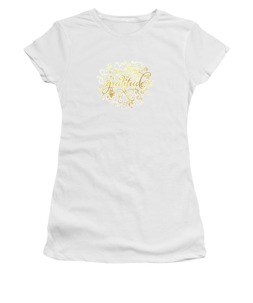 Golden Gratitude Women's T-Shirt