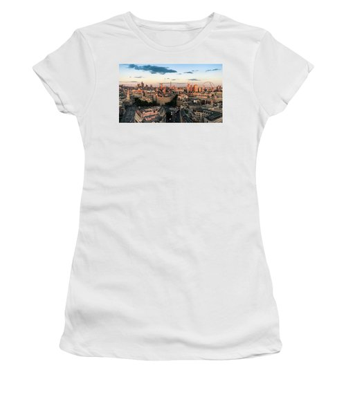 Women's T-Shirt featuring the photograph Golden Hour London by Stewart Marsden