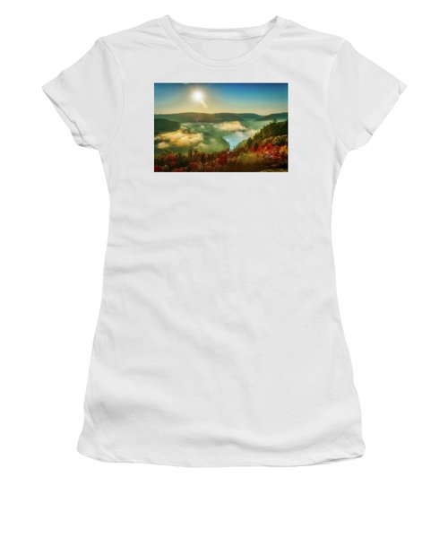 Women's T-Shirt (Athletic Fit) featuring the photograph Gorge Sunrise by Meta Gatschenberger