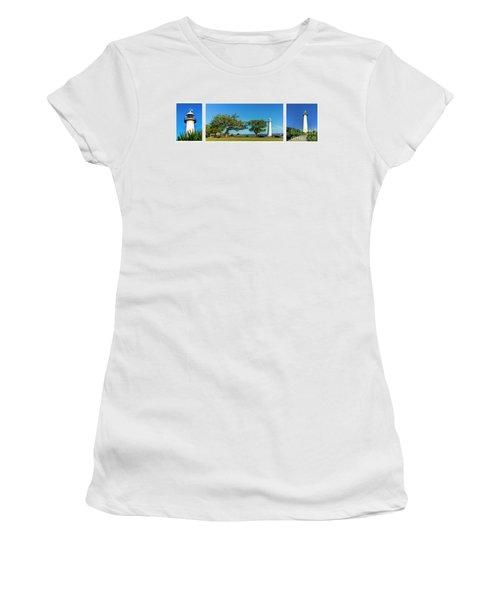 Grand Old Lighthouse Biloxi Ms Collage A1e Women's T-Shirt