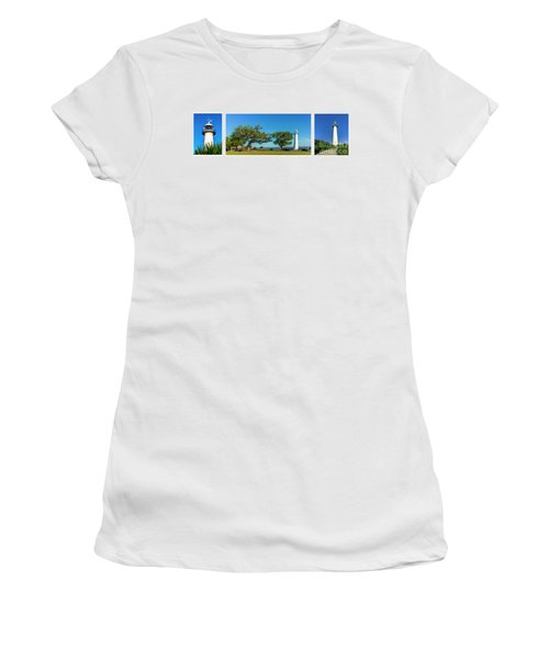 Grand Old Lighthouse Biloxi Ms Collage A1e Women's T-Shirt