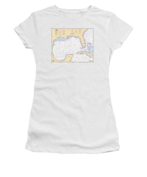 Gulf Of Mexico, Noaa Chart 411 Women's T-Shirt