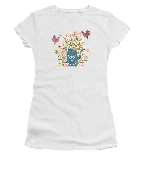 Happy Birds Making Things Beautiful Together Women's T-Shirt