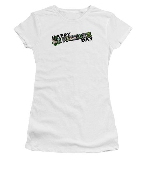 Happy St. Patrick's Day Big Letter Women's T-Shirt