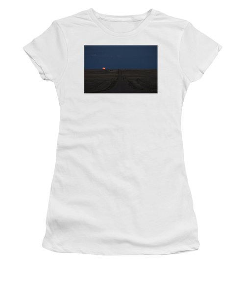Women's T-Shirt featuring the photograph Harvest Moon 1 by Carl Young