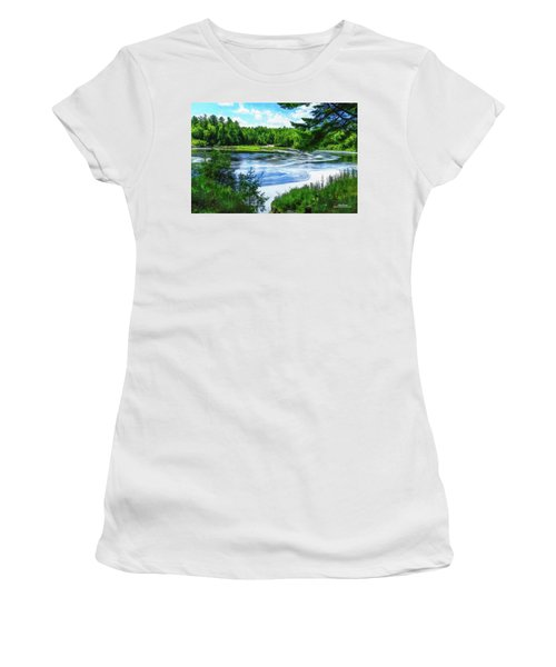 Women's T-Shirt (Athletic Fit) featuring the photograph Hiawatha's River by Mike Braun