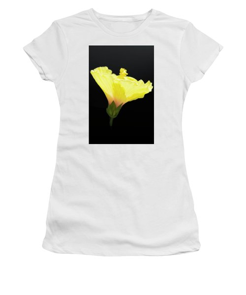 Hibiscus In Black Women's T-Shirt