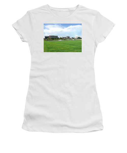 Women's T-Shirt (Athletic Fit) featuring the photograph Historic Downtown Pensacola  by Anthony Dezenzio