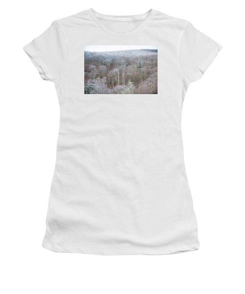 Hoarfrost In The Tree Tops Women's T-Shirt