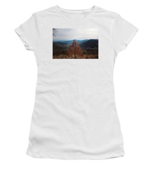 Hoarfrost On Fall Leaves Women's T-Shirt