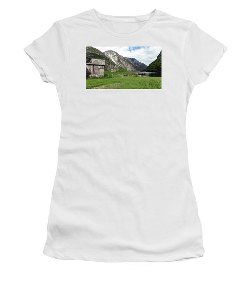 Women's T-Shirt featuring the photograph Holmaviki, Norway by Andreas Levi