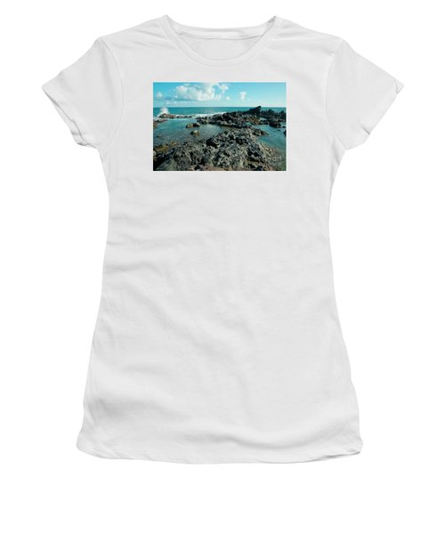 Women's T-Shirt featuring the photograph Hookipa Song Of The Sea by Sharon Mau