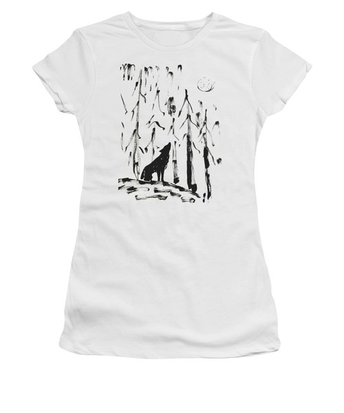 Women's T-Shirt featuring the painting Howl #2 by Maria Langgle