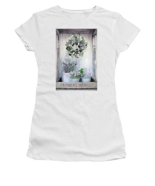 Hydrangea Wreath And Lavender Women's T-Shirt
