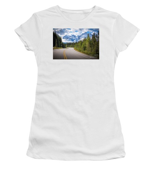 Icefields Parkway Curve Women's T-Shirt