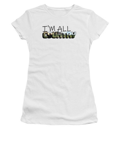 I'm All Country Big Letter Women's T-Shirt