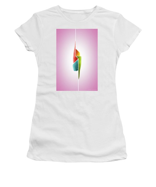 Innaiant Ice Cream Redux - Surreal Abstract Jawbone Collage Women's T-Shirt