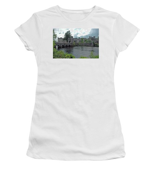 Women's T-Shirt (Athletic Fit) featuring the photograph Irish Castle by Mark Duehmig
