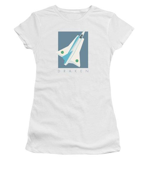 J35 Draken Swedish Air Force Jet Aircraft - Slate Women's T-Shirt
