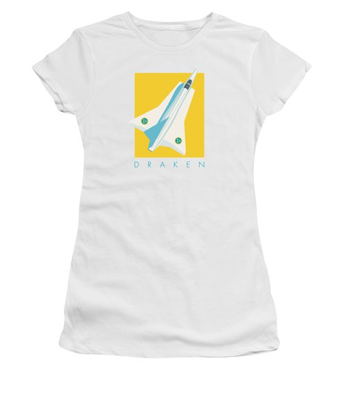 J35 Draken Swedish Air Force Jet Aircraft - Yellow Women's T-Shirt
