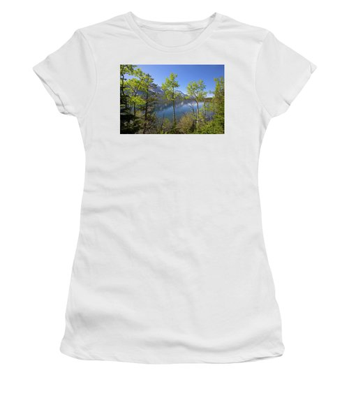 Women's T-Shirt (Athletic Fit) featuring the photograph Jackson Lake by Sue Collura