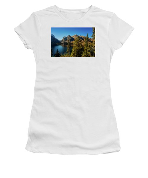 Women's T-Shirt (Athletic Fit) featuring the photograph Jenny Lake by Pete Federico