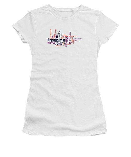 John Lennon - Imagine Lyrical Cloud Women's T-Shirt