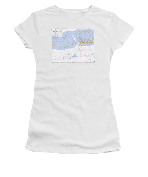 Key West Harbor And Approaches, Noaa Chart 11441 Women's T-Shirt