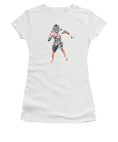 Khalil Mack Chicago Bears Apparel T Shirt Pixel Art 1 Women's T-Shirt