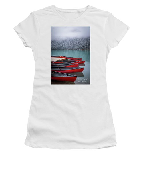 Lake Louise Canoes Women's T-Shirt