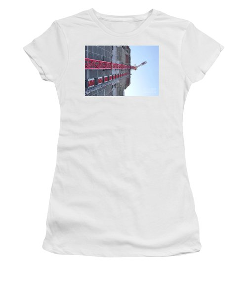 Large Scale Construction Site With Crane Women's T-Shirt
