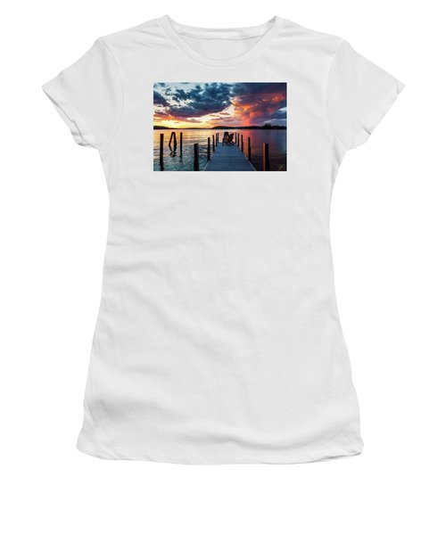 Women's T-Shirt featuring the photograph Late Summer Storm. by Jeff Sinon