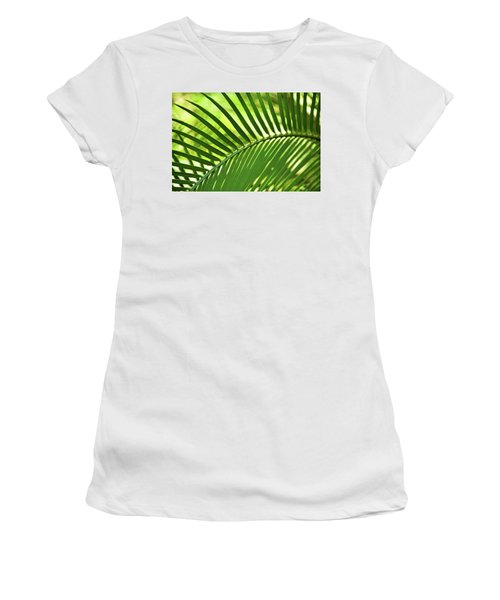 Women's T-Shirt (Athletic Fit) featuring the photograph Leaf Abstraction Iv by Leda Robertson