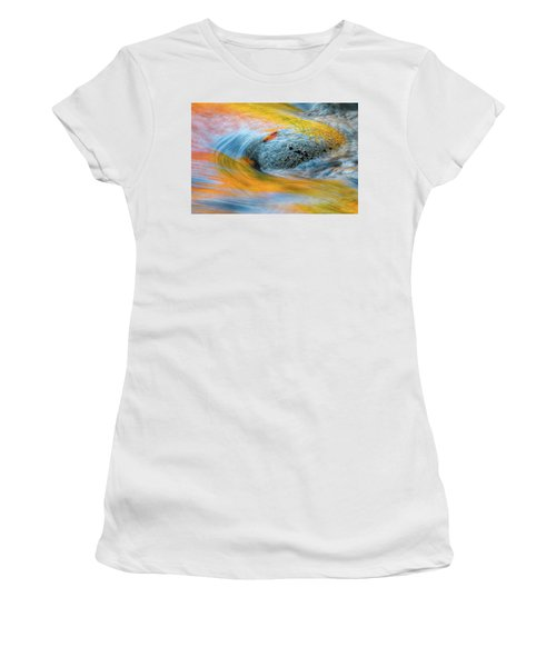 Women's T-Shirt featuring the photograph Leaf Lines Nh by Michael Hubley