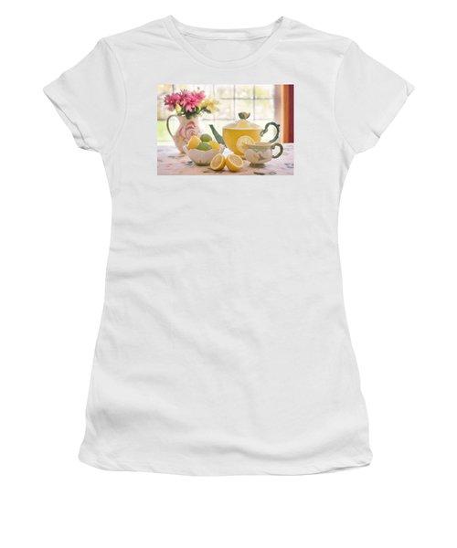 Lemon Tea  Women's T-Shirt (Athletic Fit)