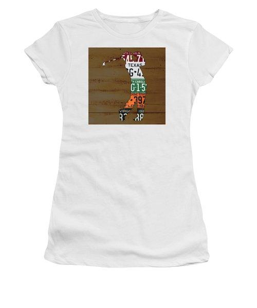 License Plate Golfer Art Custom Women's T-Shirt