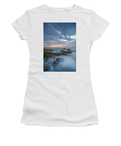 Women's T-Shirt featuring the photograph Lines - Matosinhos 2 by Bruno Rosa