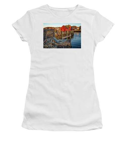 Lobster Traps And Line At Motif #1 Women's T-Shirt