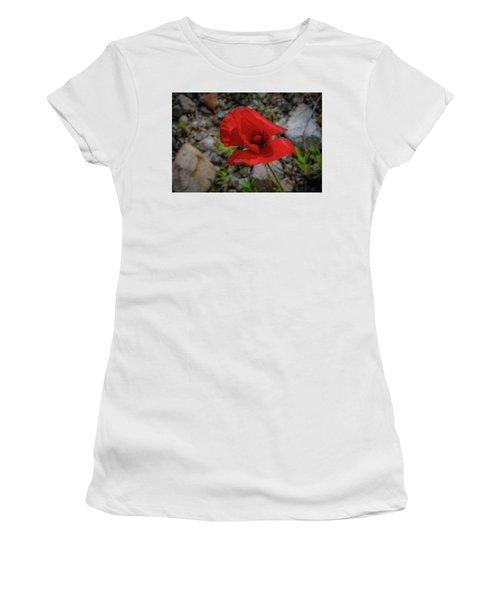 Lone Red Flower Women's T-Shirt