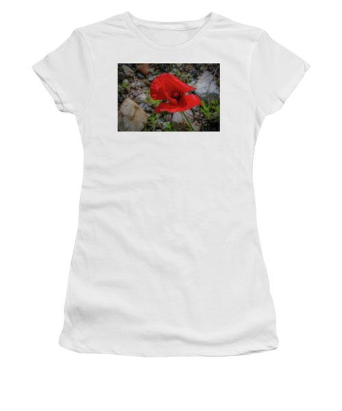 Lone Red Flower Women's T-Shirt