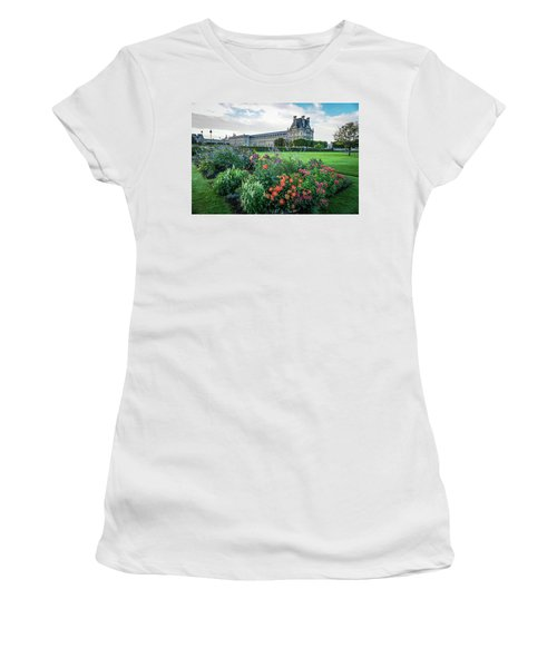 Women's T-Shirt featuring the photograph Louvre by Jim Mathis